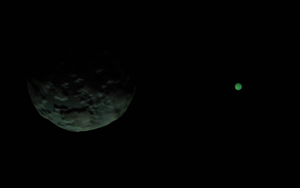 Also visible are the moons Vall, Tylo and Laythe
