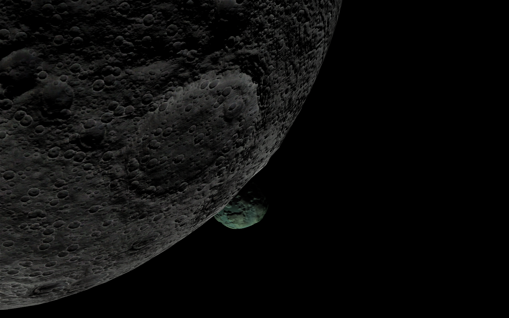 Mun and Minmus are just 0.6 degrees apart