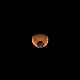No shadow visible thanks to our current viewing angle to Duna